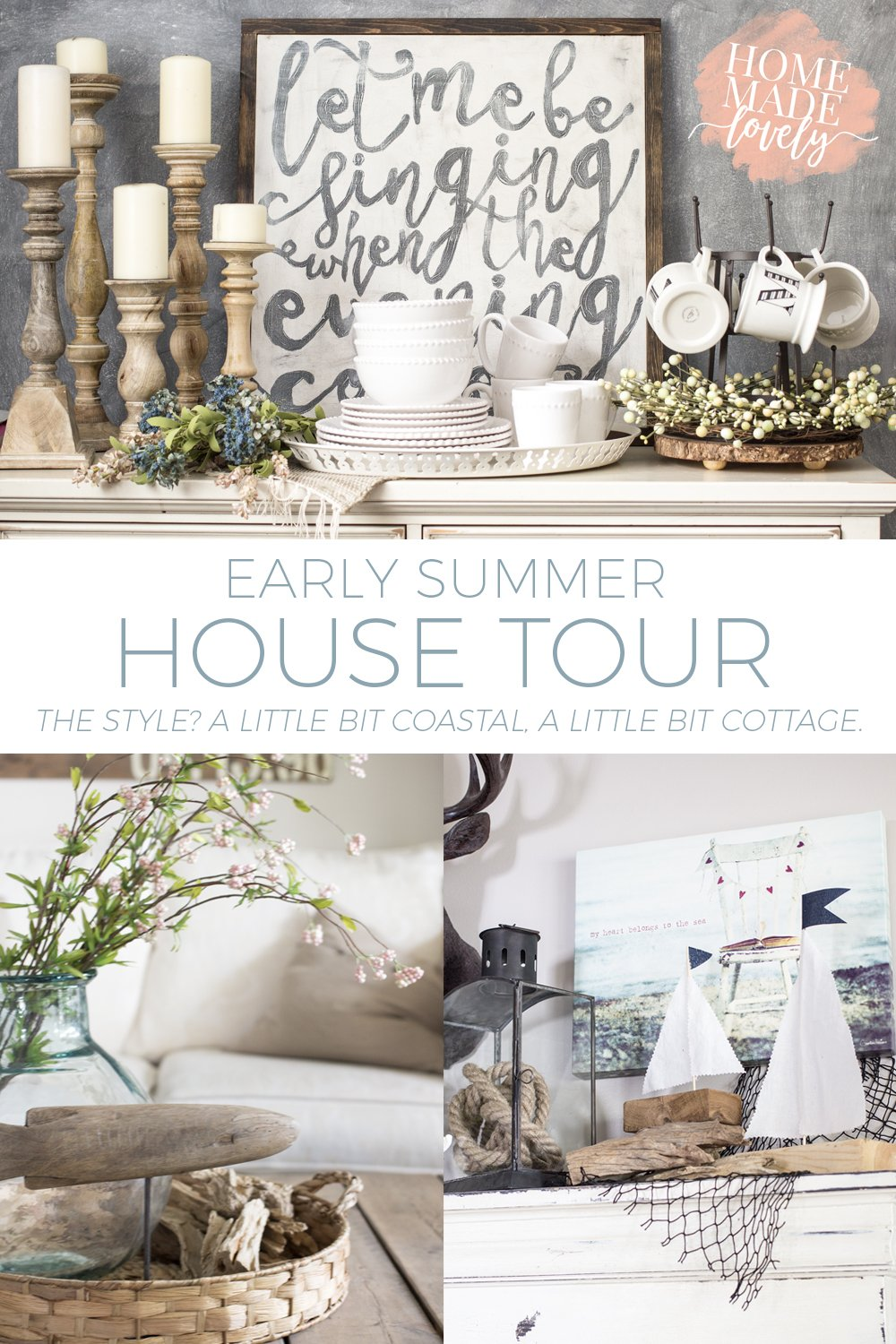 Here's our slightly coastal, slightly cottage early summer house tour!