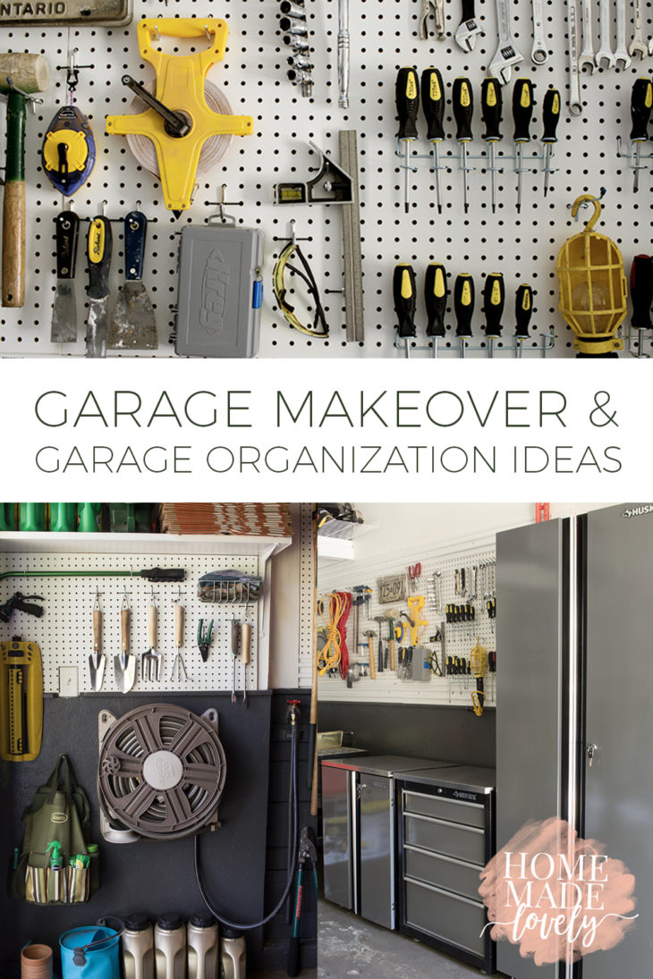 Garages can get really messy, really quickly. Take a tour of our garage makeover to get some garage organization ideas for your own garage!
