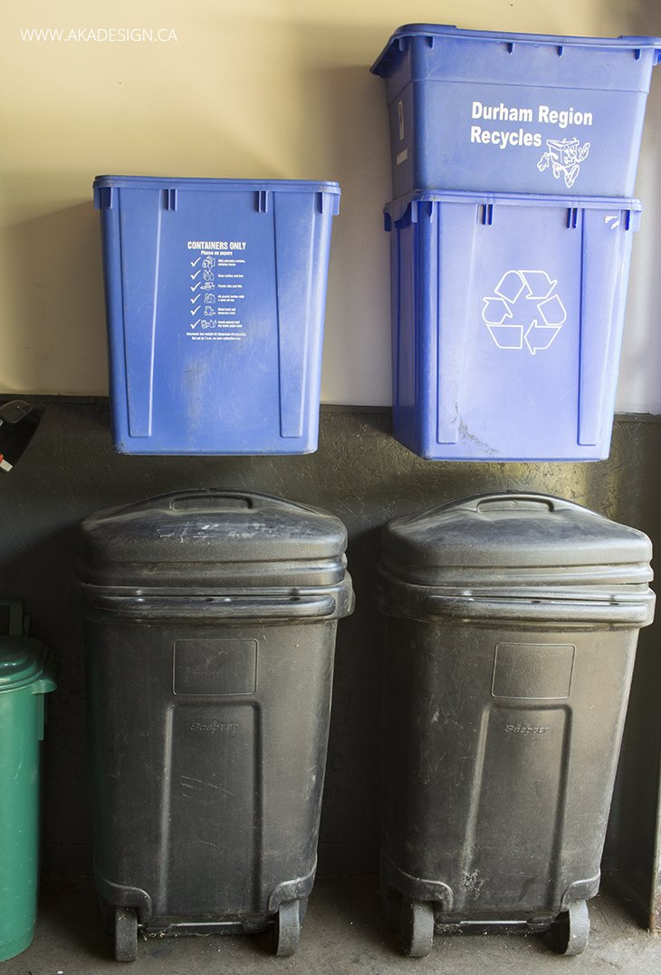 garbage and recycling storage