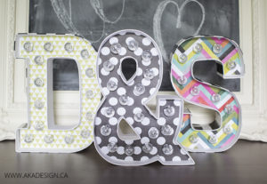 DIY Marquee Letters from Michaels