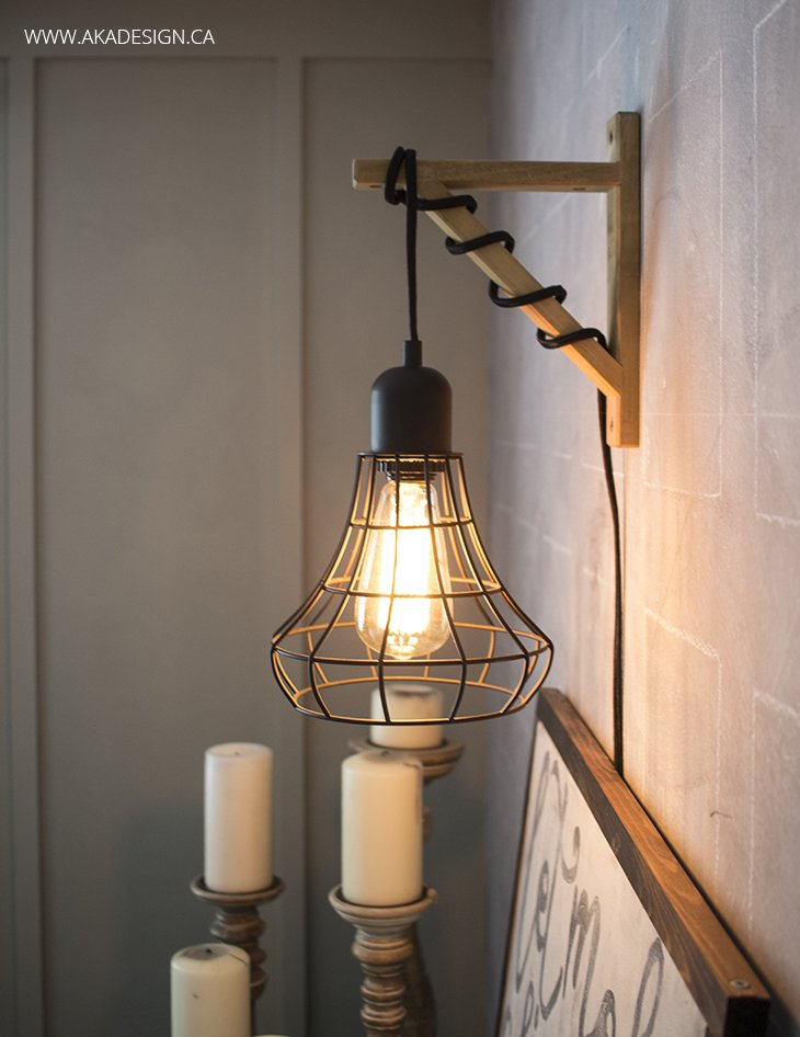 Lights Hanging On Wall : Hanging Cage Light