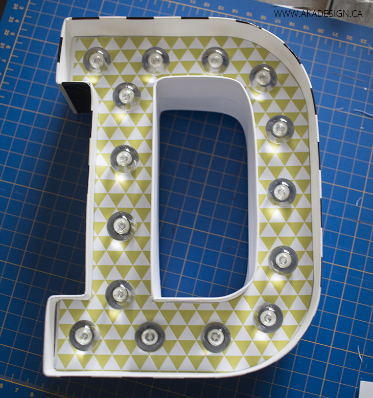all bulbs in marquee letters