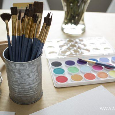 Drawings to Watercolor Paintings (Kids' Craft)