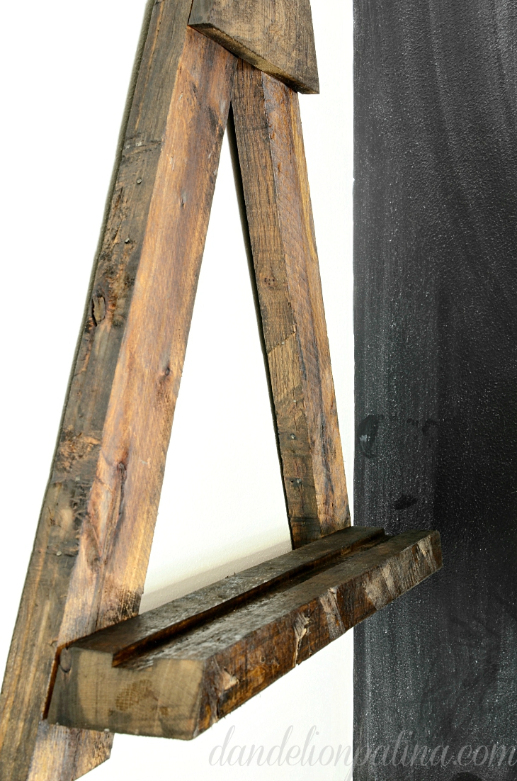 diy wall easel pallet for aka design on Easel Decorating Ideas  id=13772
