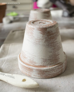 faux aged clay pots