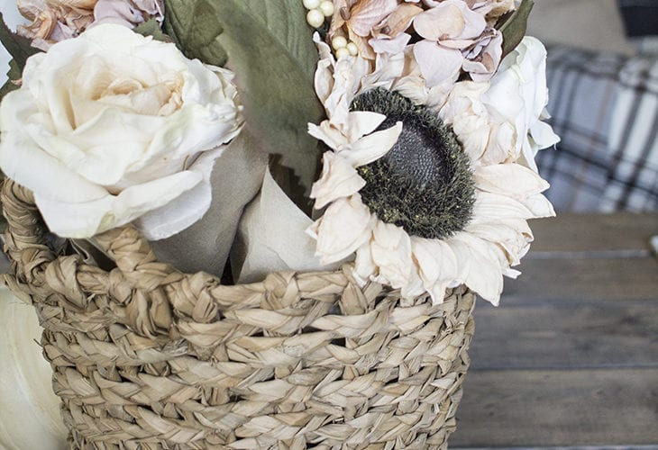 Easy Fall Basket of Flowers