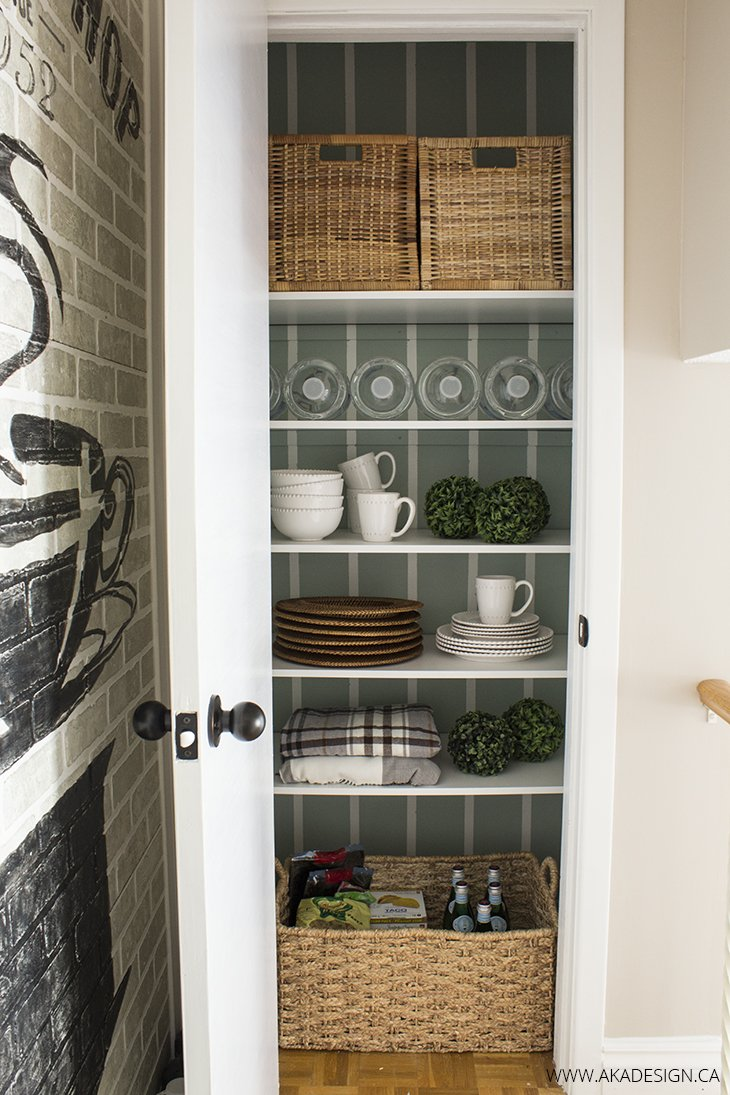 Making a Closet Pantry Prettier