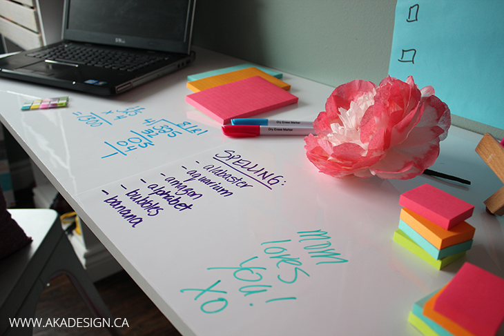 Post It Dry Erase Surface Desk Top 1
