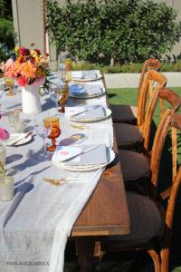 farm dinner table