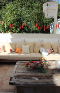 outdoor couches rustic white