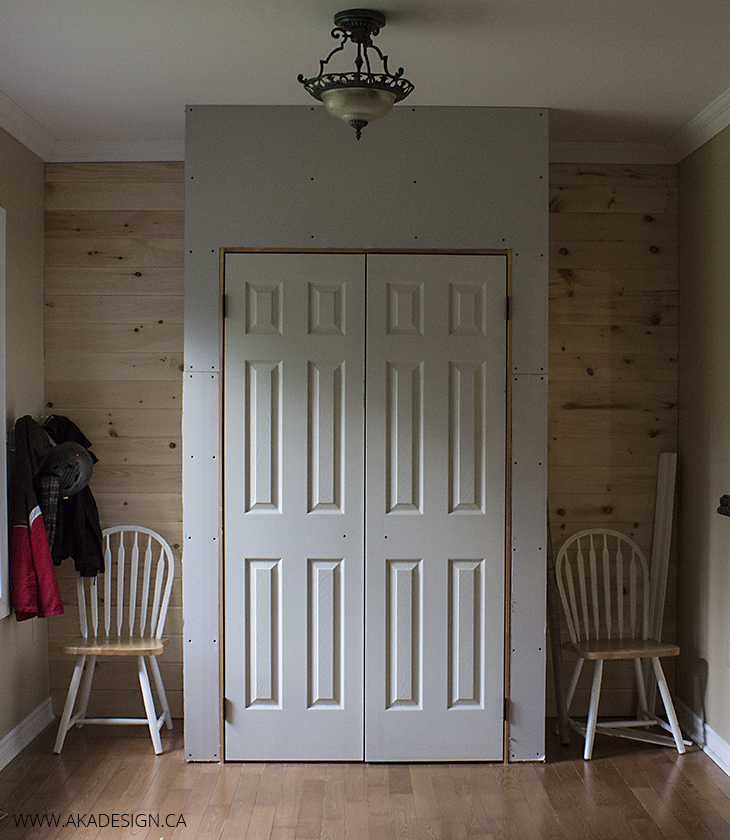 Home Made Lovely Closet and Plank Wall - Unfinished