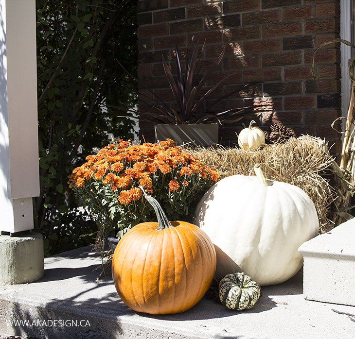 Home Made Lovely Fall Porch Pumpkins