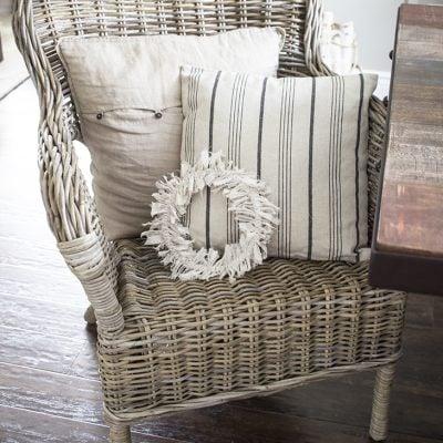 Embroidery Hoop Rag Wreath