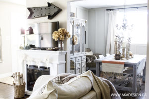 AKA Design living room to dining room