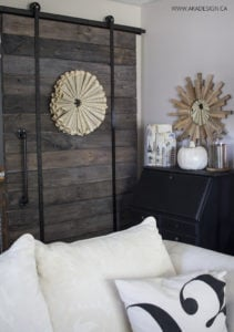 AKA Design neutral fall barn door corner