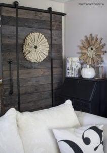 AKA Design neutral fall barn door corner