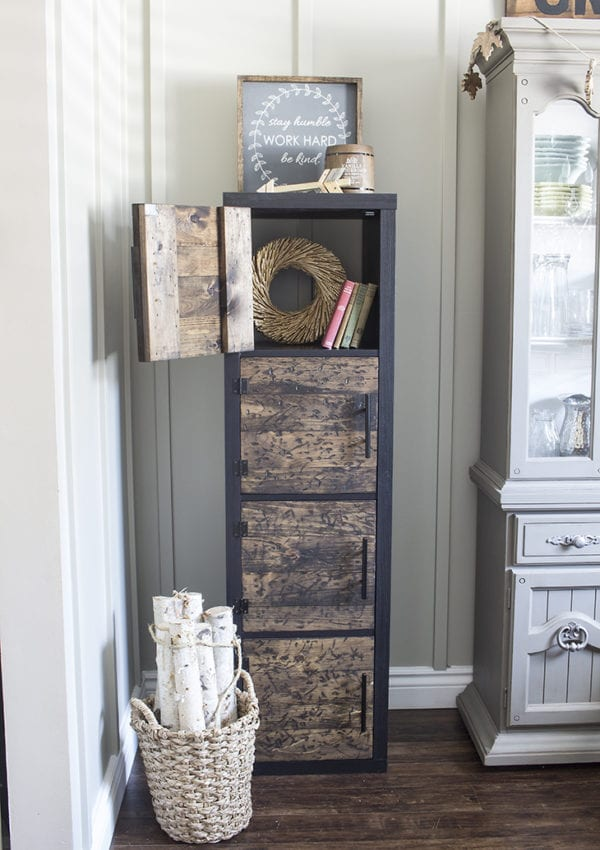 Ikea Hack: DIY Rustic Cube Shelves