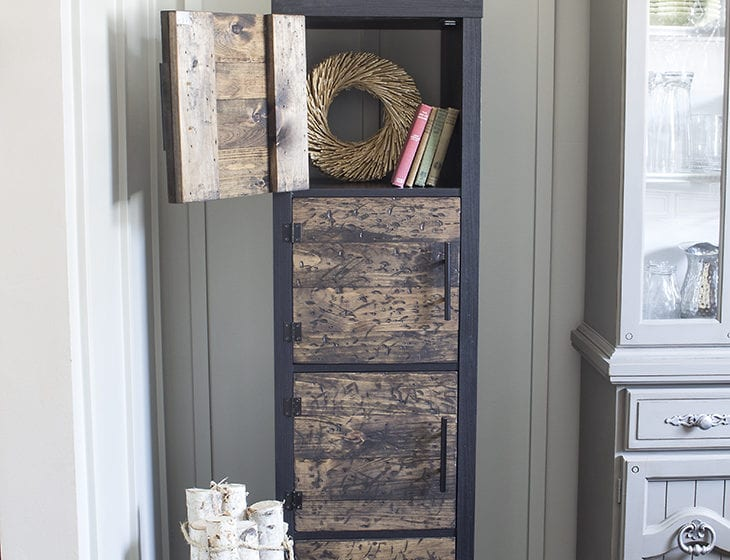 DIY Rustic Cube Shelves Ikea Hack Open Door AKA Design