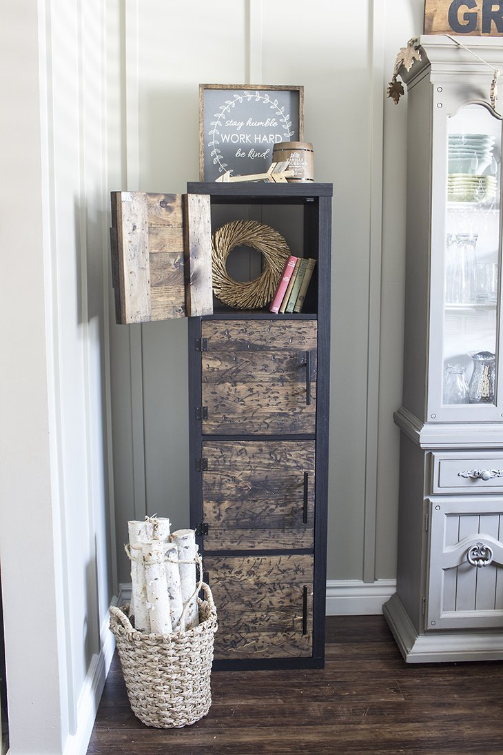 ikea hack diy rustic cube shelves. Black Bedroom Furniture Sets. Home Design Ideas