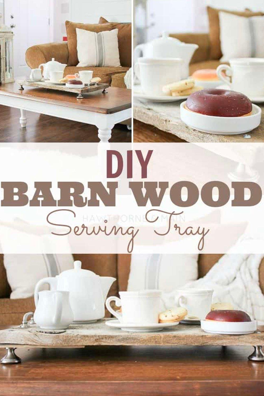 DIY barn wood serving tray