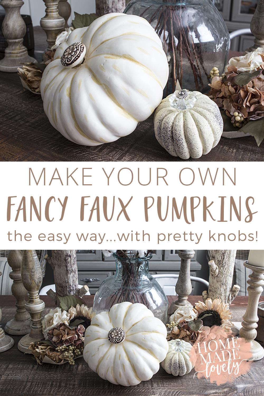 DIY fancy faux pumpkins pin