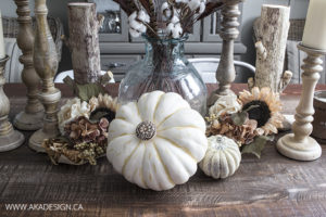 Fancy Faux Pumpkin Centerpiece
