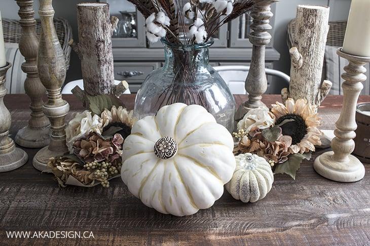 Fancy Faux Pumpkin Centerpiece