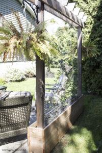 Raised garden with trellis AKA Design