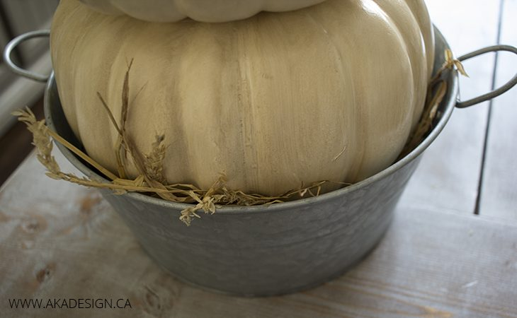 hay in pail
