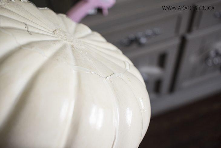 hot glue bottom of second and third pumpkin