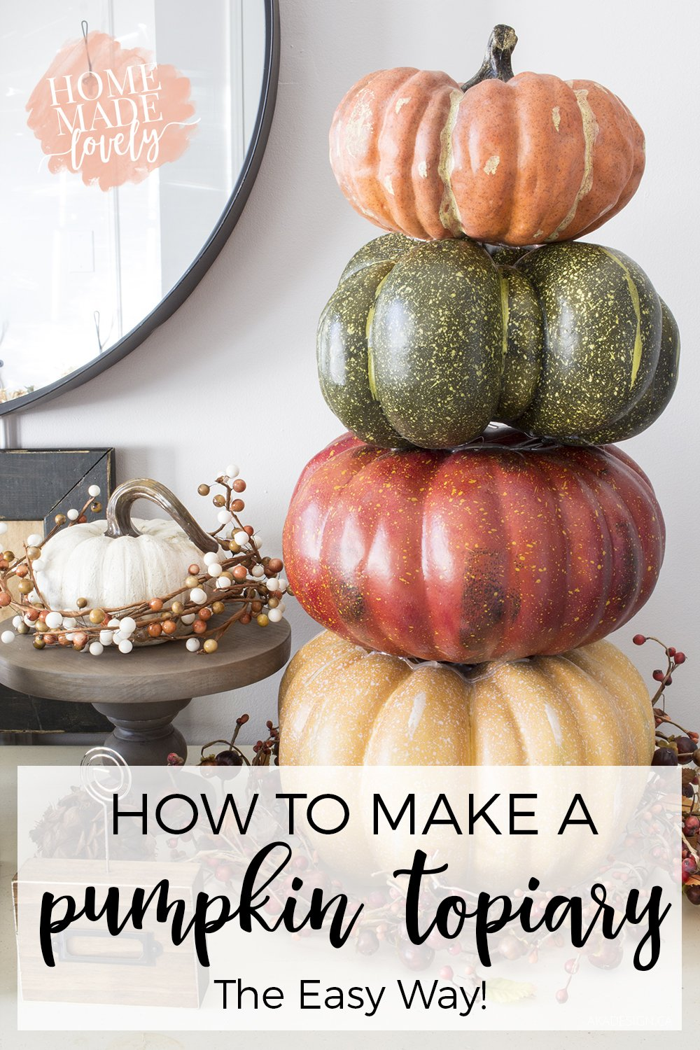 how to make a pumpkin topiary the easy way