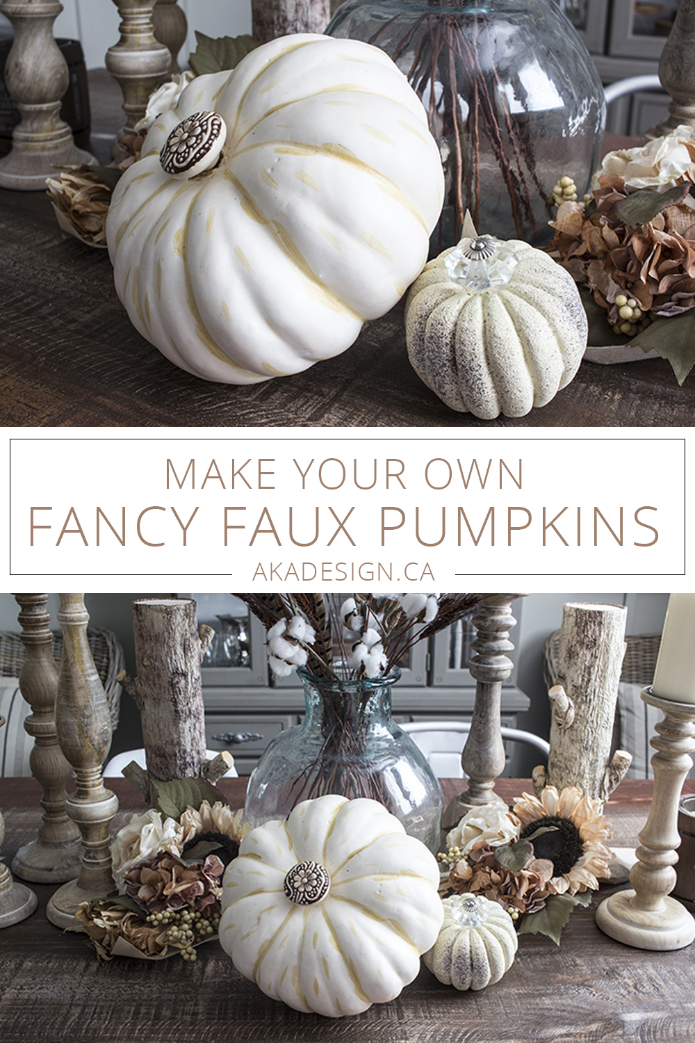 make your own fancy faux pumpkins