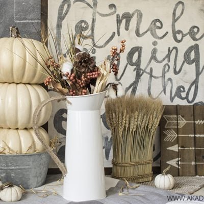 Make a Pumpkin Tower with Faux Pumpkins