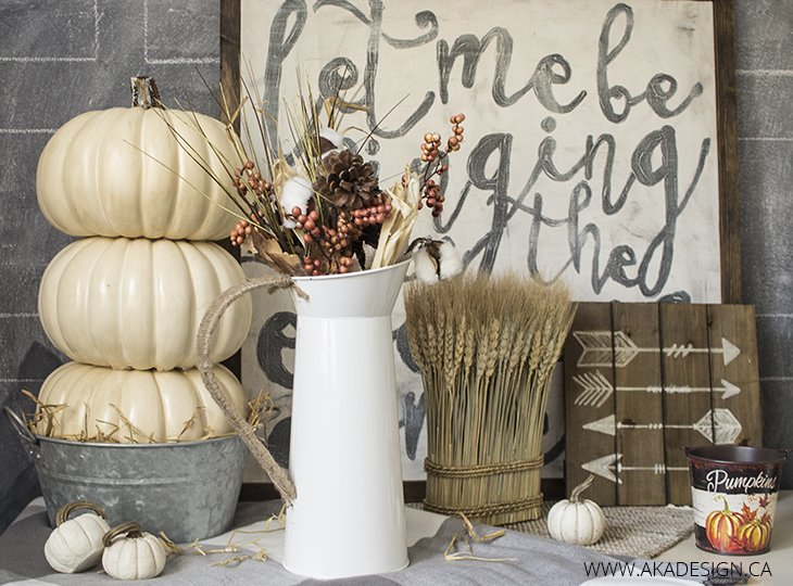 Make a Stacked Pumpkin Tower with Faux Pumpkins
