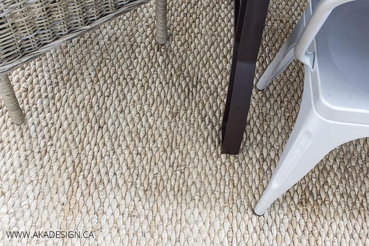 AKA Design Dining Room Rug Detail