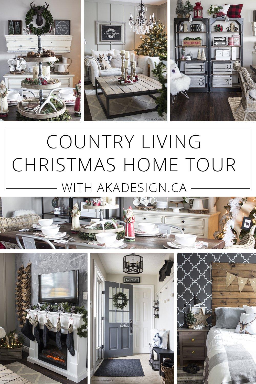 Country living christmas home tour for Living home christmas