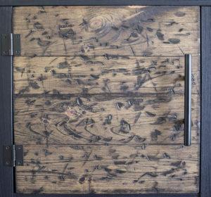 DIY Rustic Cube Shelves Wood Door Detail AKA Design