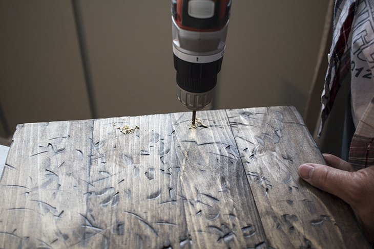 Drill holes for handles AKA Design
