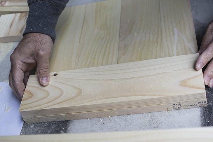Gluing backing onto doors AKA Design
