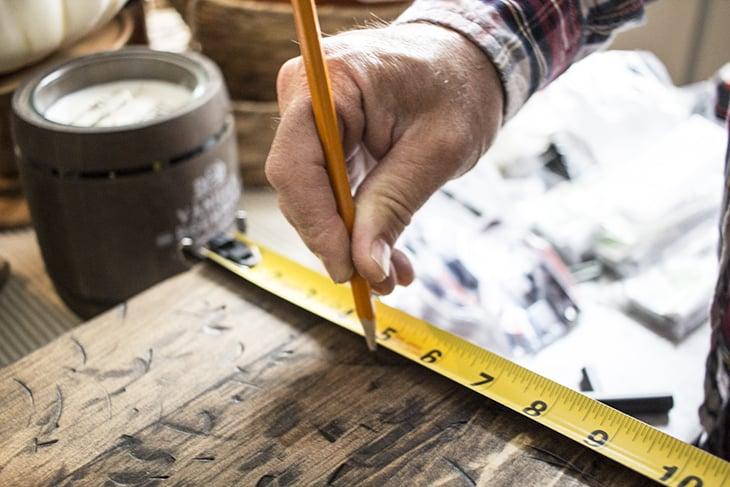 Measure for handle holes AKA Design