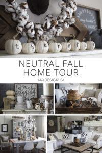 Neutral Fall Home Tour