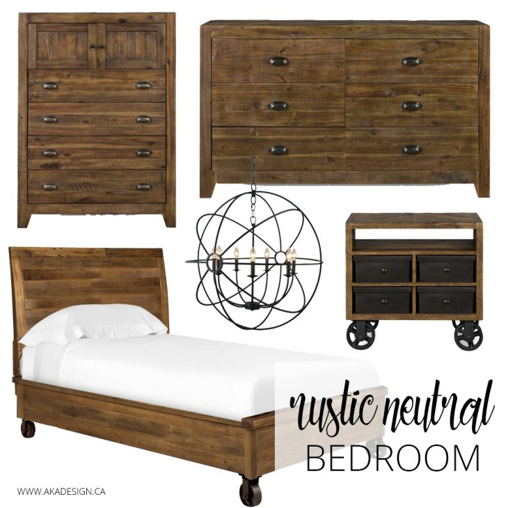 A Dark Cozy Moody Masculine Bedroom Lots Of Wood Dark: Neutral Bedroom Inspiration
