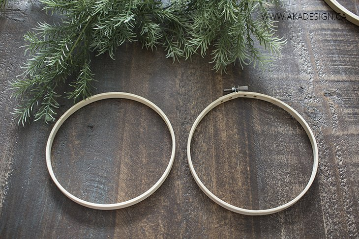 Separate Embroidery Hoop Circles