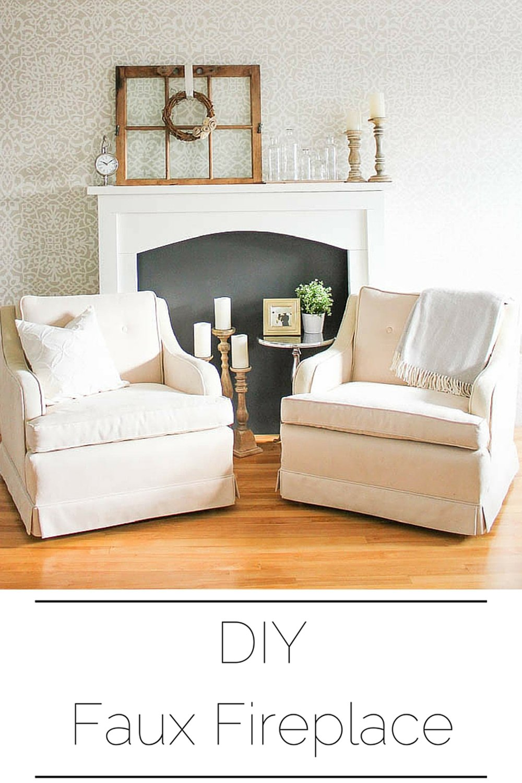 DIY Faux Fireplace Mantel
