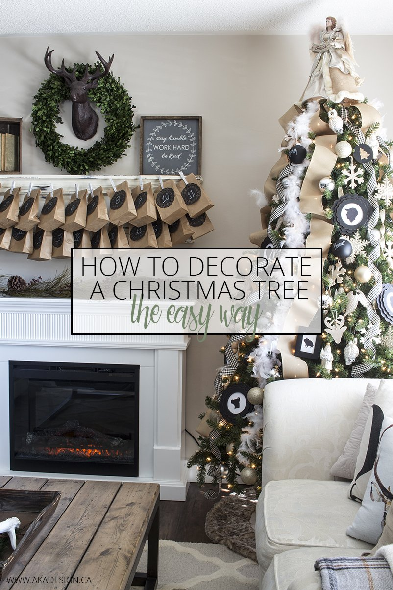 AKA DESIGN HOW TO DECORATE A CHRISTMAS TREE THE EASY WAY