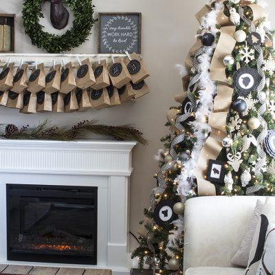 Glittery Neutral Christmas Tree