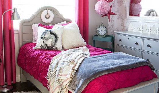 AKA Design Girl's Bedroom Makeover Feature Image