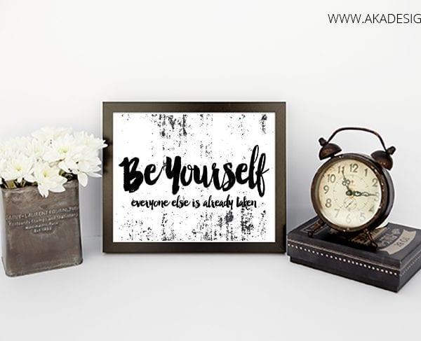 Be Yourself printable