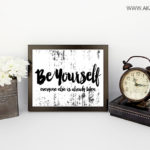 Be Yourself printable