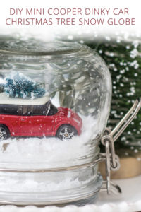 DIY Mini Cooper Dinky Car Christmas Tree Snow Globe